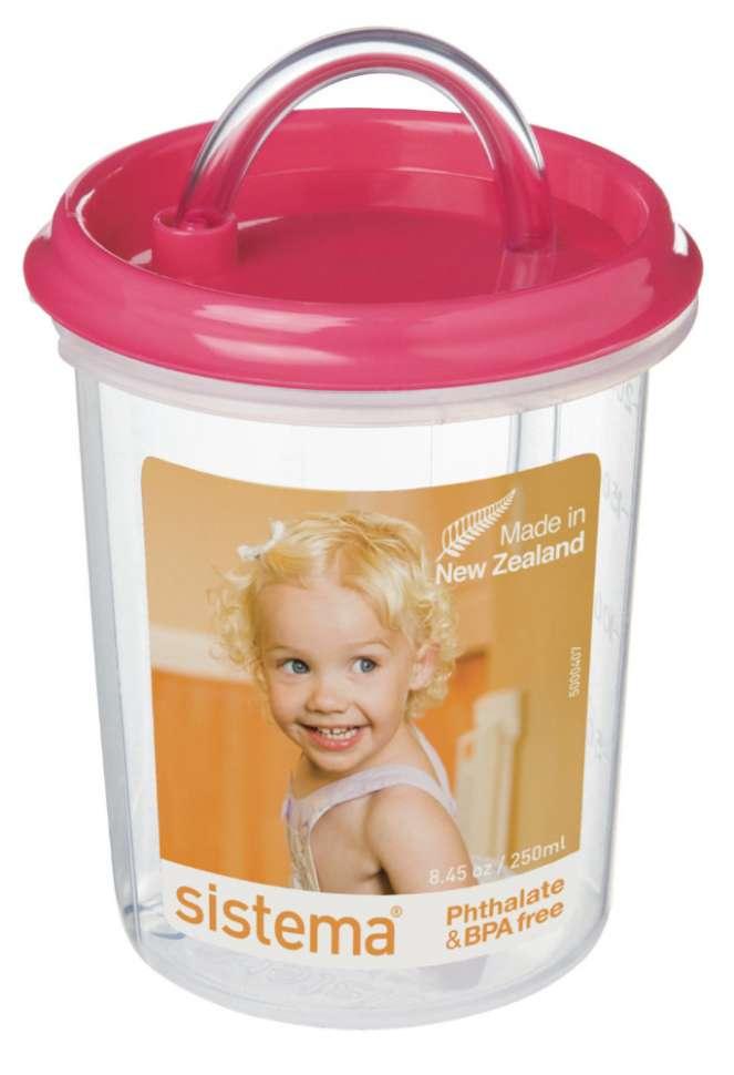 Детская чашка с трубочкой 250мл SISTEMA HYDRATE  40