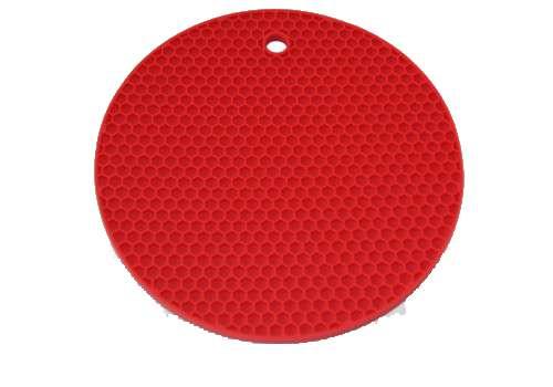 Подставка-прихватка для посуды круглая (красная) BAF 8020 95 09 0-к
