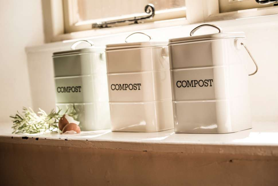 Контейнер для пищевых отходов Living Nostalgia Green KITCHEN CRAFT LNCOMPGRN