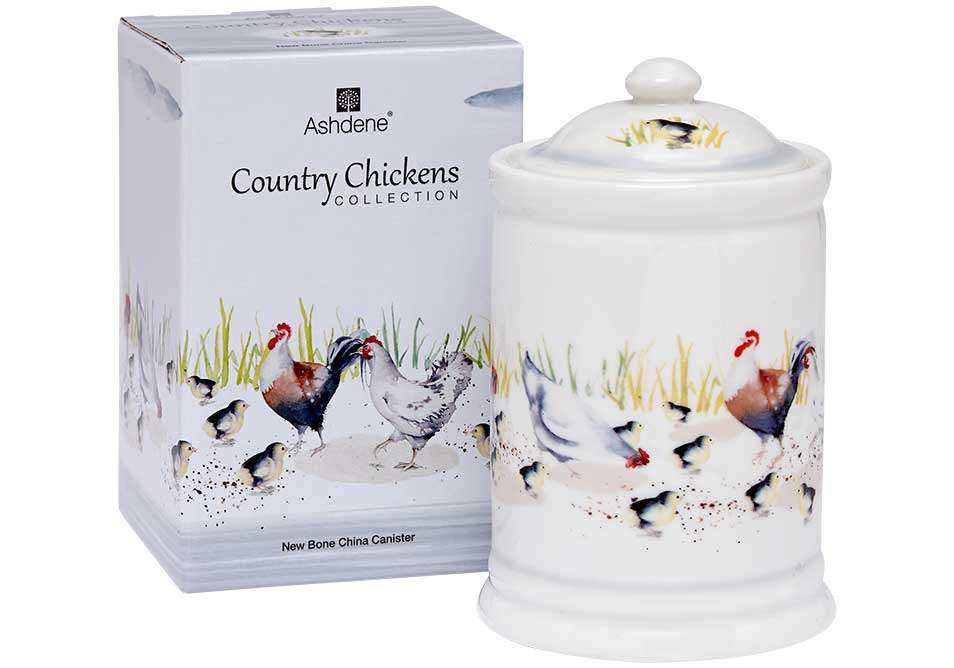 """Емкость для сыпучих продуктов """"Country Chickens"""" ASHDENE 517288"""
