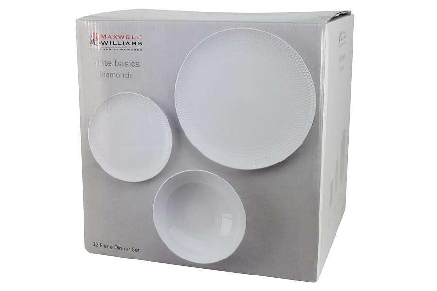 Обеденный сервиз 12 предметов на 4 персоны Даймонд в подарочной упаковке MAXWELL & WILLIAMS MW688-DV0031