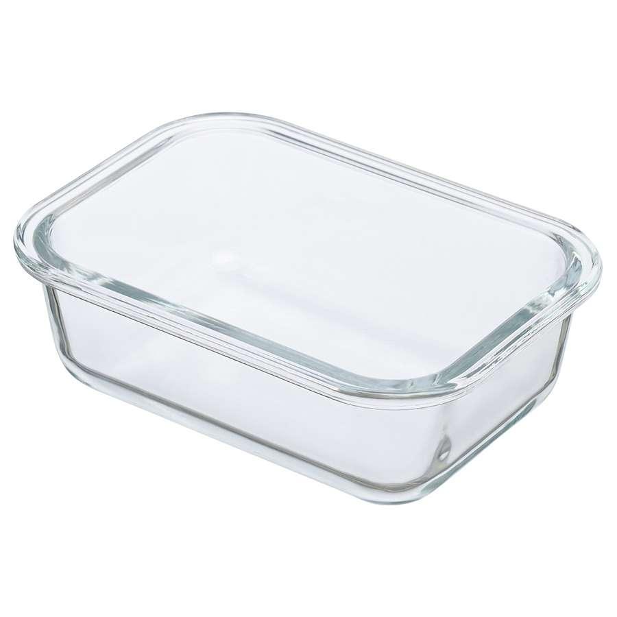 Контейнер для еды стеклянный 370 мл светло-бежевый SMART SOLUTIONS ID370RC_7534C